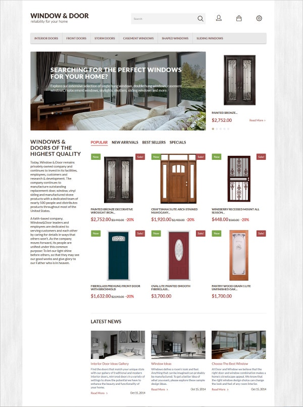 ecommwindow door prestashop theme