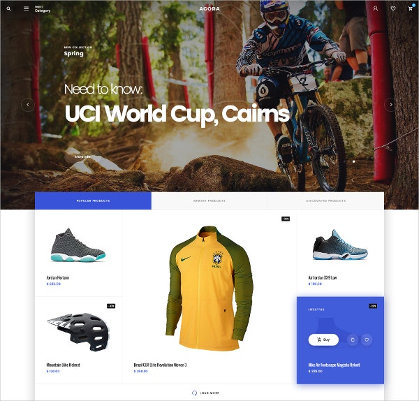 eCommerce Modern Design PSD Template