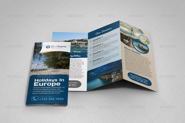 travel holiday trifold brochure