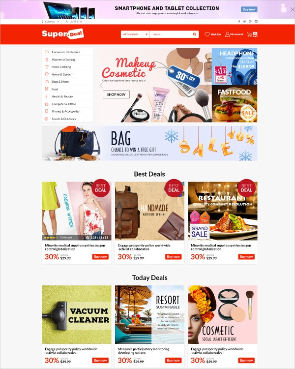 multipurpose ecommerce html5 template