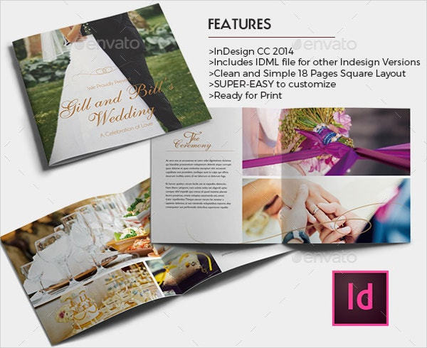 Wedding Brochure Template Free PSD AI Vector EPS Format - Elegant brochure templates