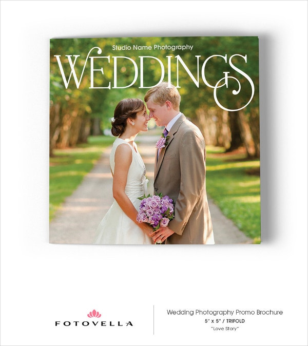 Wedding Photography 5x5 Trifold Brochure Template