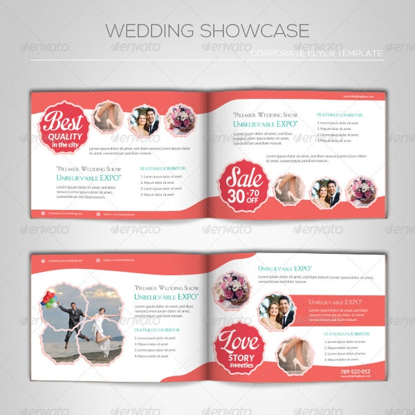 wedding showcase brochure template