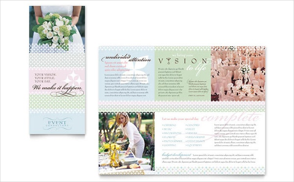wedding event planning brochure template