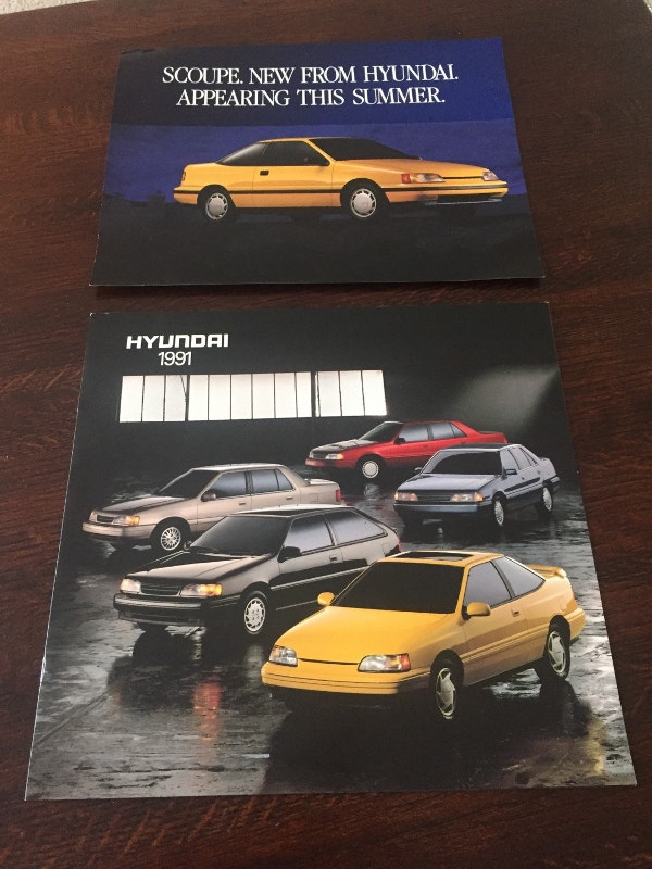 1991 Hyundai Car Brochure