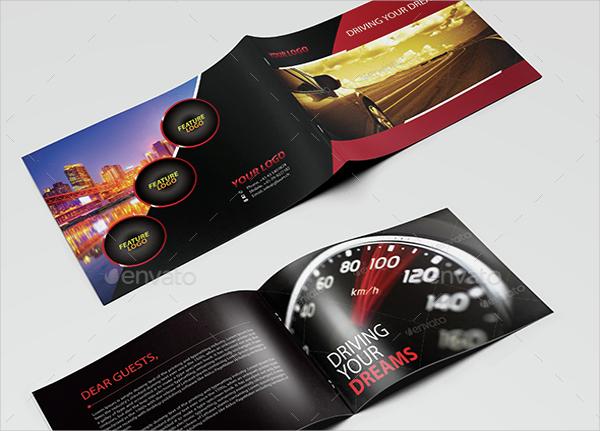 modern car brochure landscape