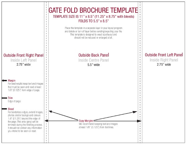 Gate Fold Brochure Template