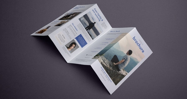 Psd Double Gate Fold Brochure
