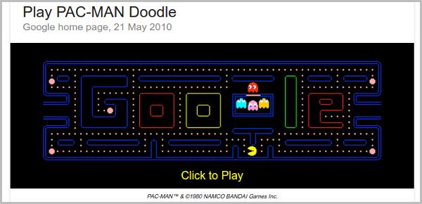 Play Pac Man Doodle