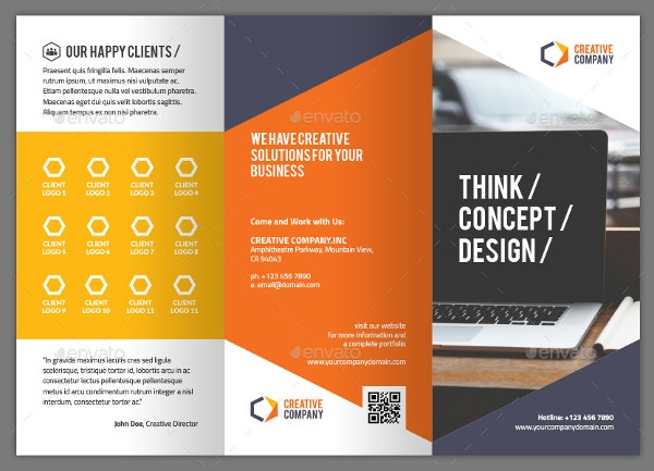Creative brochure templates 32 free pdf psd ai for Graphic design brochure templates