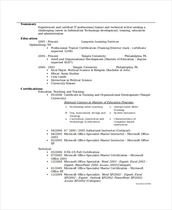 Bank Teller Resume Template   Free Word Excel Pdf Documents