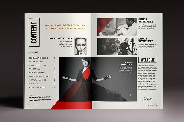 8 InDesign magazine brochure templates