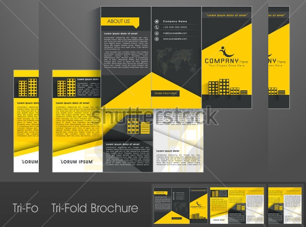 Shutterstock Professional tri-fold brochure