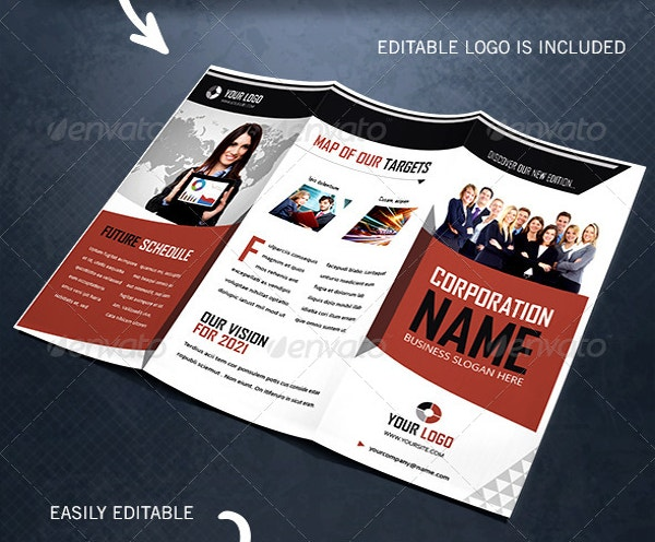 Creative & Corporate Trifold Brochure Template
