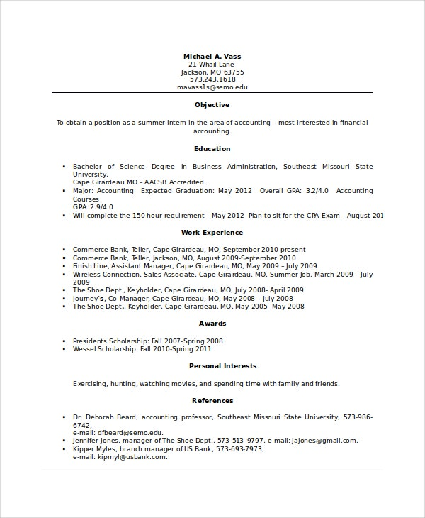 Bank teller resume template 5 free word excel pdf for Sample resume for a bank teller with no experience