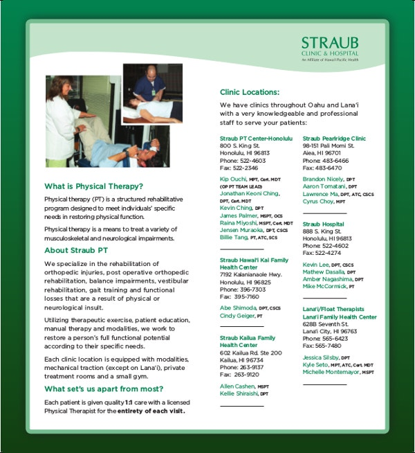 straub physical therapy