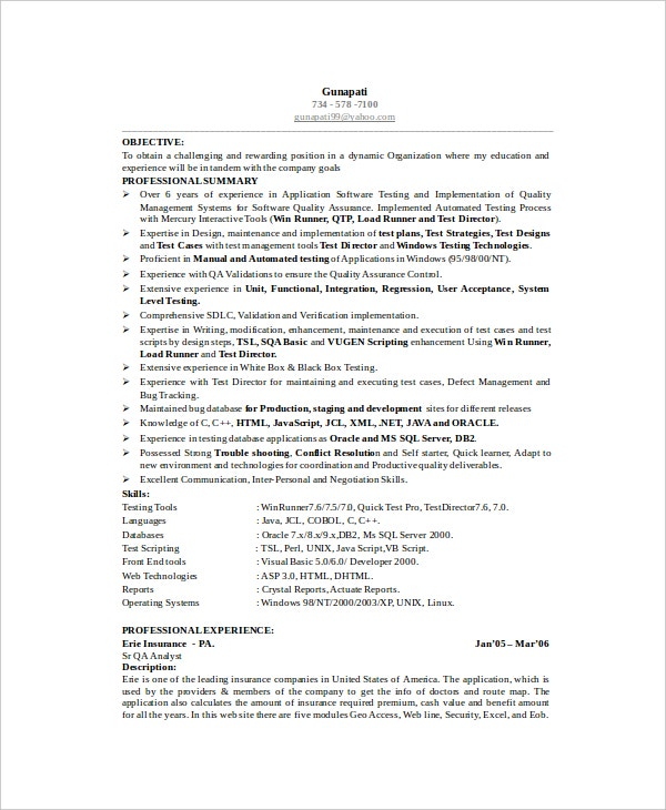 software test engineer resume - Microsoft Test Engineer Sample Resume