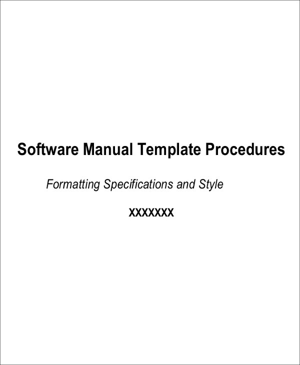 Instruction Manual Template for Software