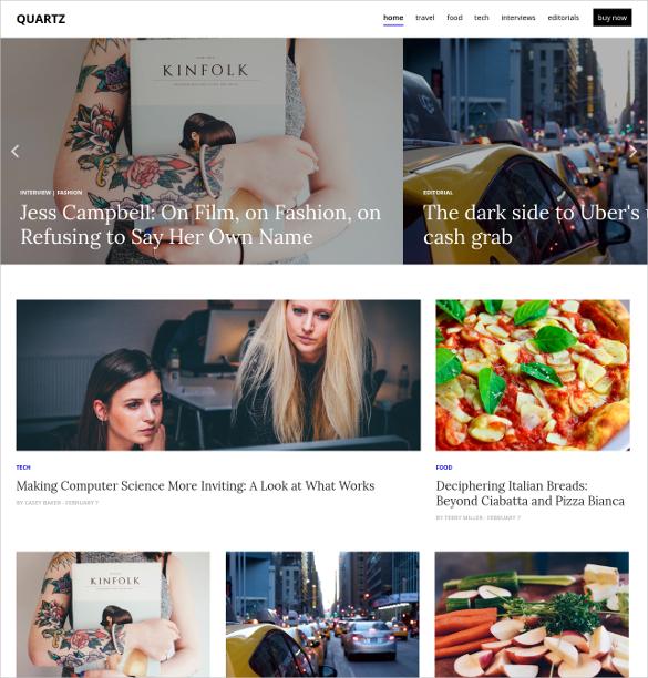 Social Media News & Magazine Website Theme $40