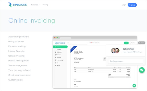 zipbooks Invoice