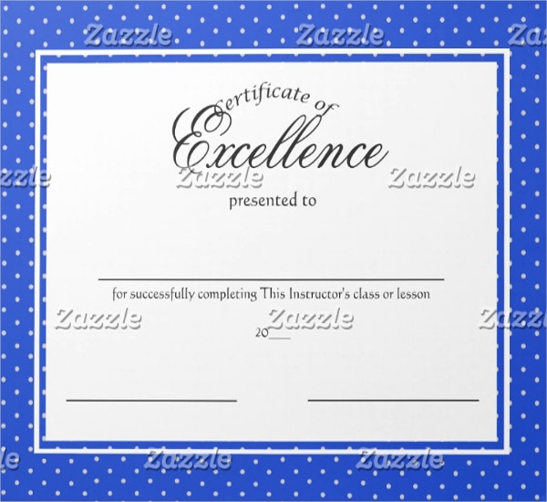 Amazing School Excellence Certificate Template  Certificates Of Excellence Templates