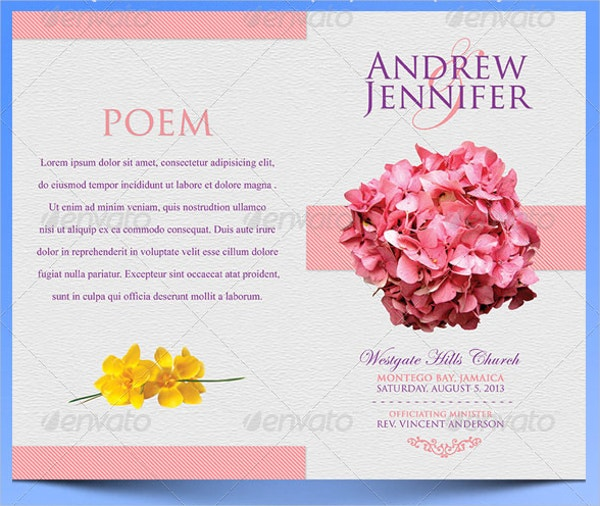 Flowery Wedding Program