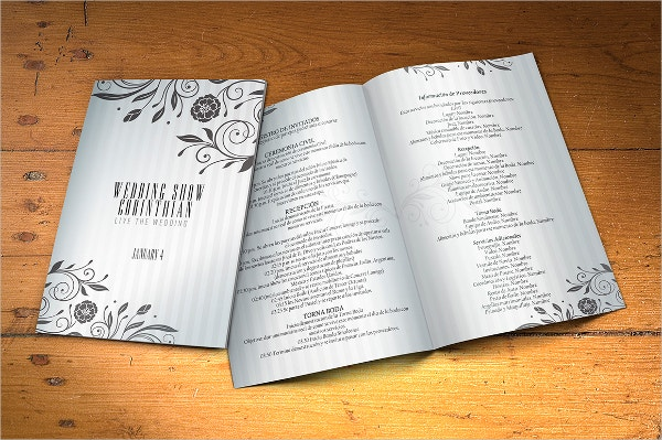 Wedding Program PSD Template