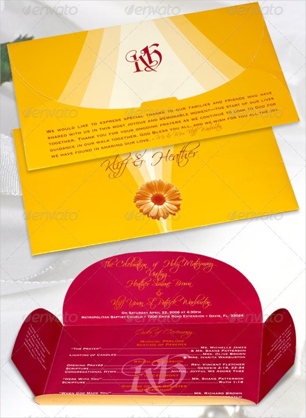 Envelope Wedding Program Template