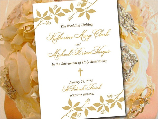 Flat Wedding Program Template