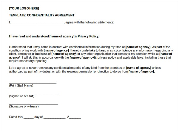 Basic Confidentiality Agreement Download.doc