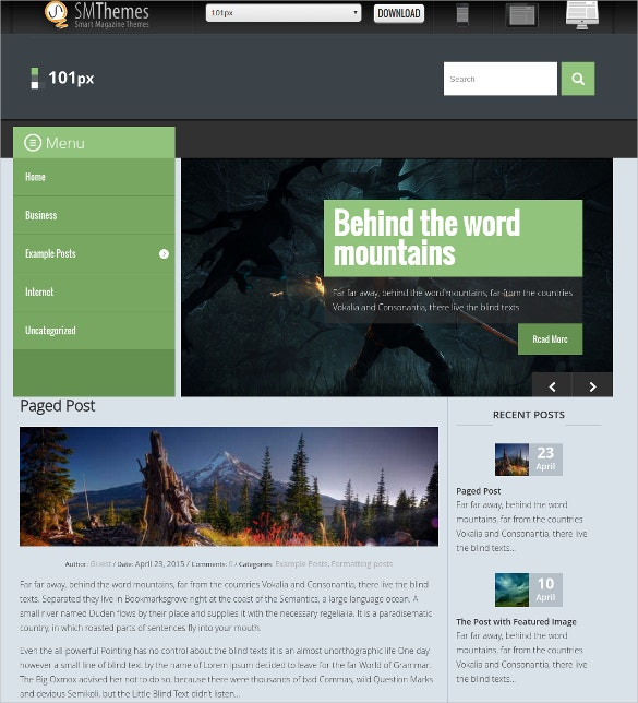 Free Social Media Adventure WordPress Website Theme $40