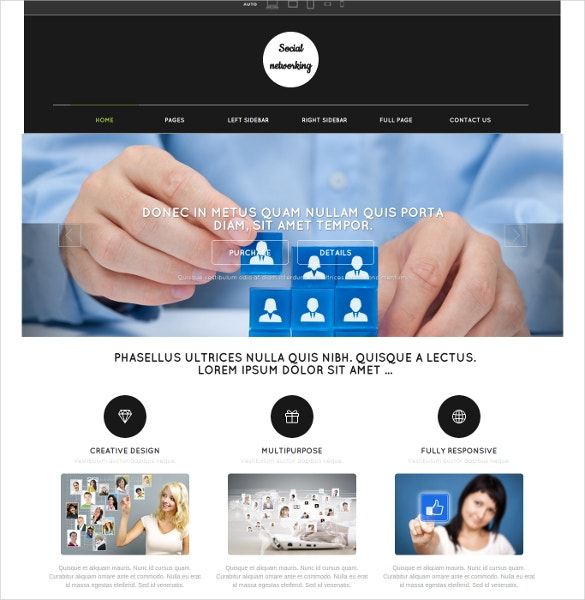 Social Media Networking Website Template