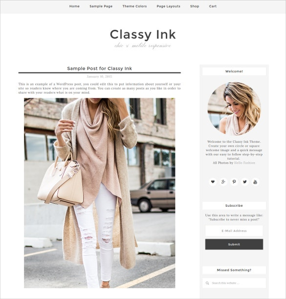 Social Media Blog WordPress Website Theme $15