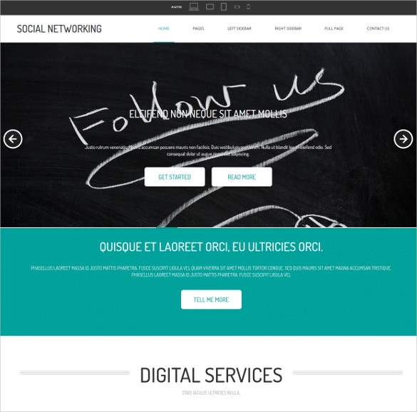Social Networking & Media Site Website Template