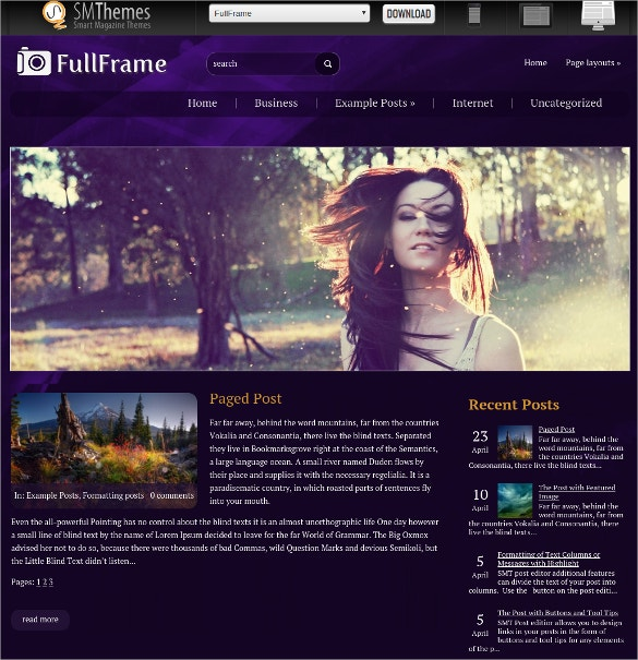 Free Social Media Portfolio WordPress Website Theme