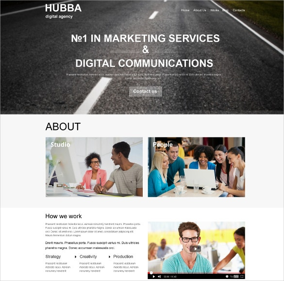 Social Media Marketing Agency Muse Website Template $44
