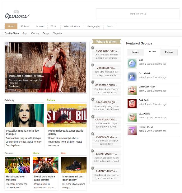Fully Responsive Social Media WordPress Website Theme $59