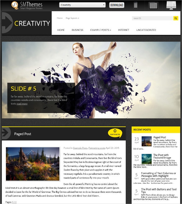 Free Creative Social Media WordPress Website Theme