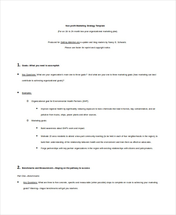 nonprofit strategy template