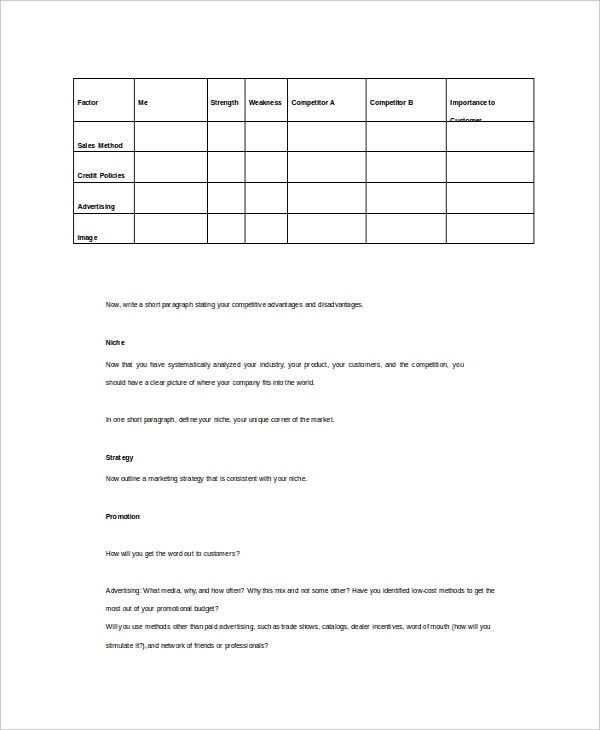 business strategy template2