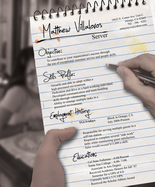 Server Creatiev Resume Design Download