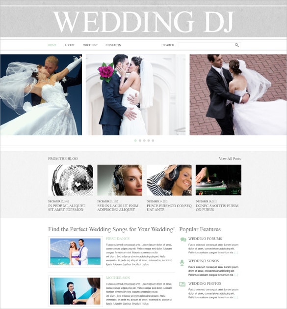 wedding website dj template 69