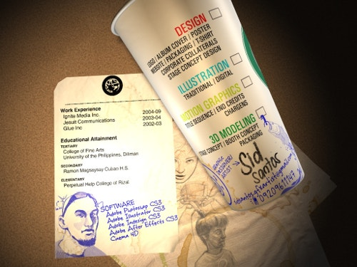 Desiner Creative Resume on Cup