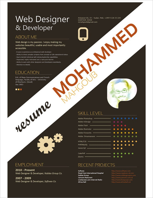 Web Designer & Developer Resume