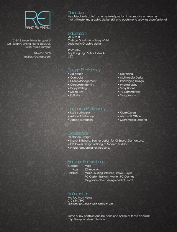 Digital Marketing Creative Resume
