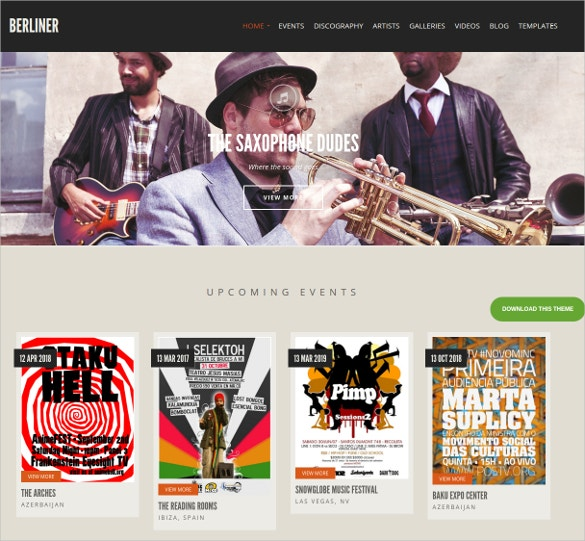 wordpress website theme for musicians dj