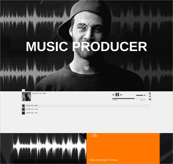 Responsive DJ & Music Website Theme $17