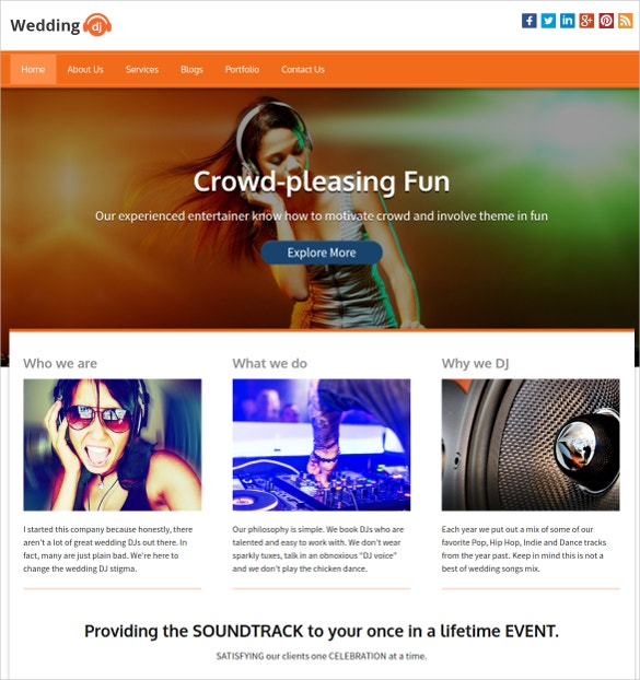 designed for wedding djs music wordpress theme 79