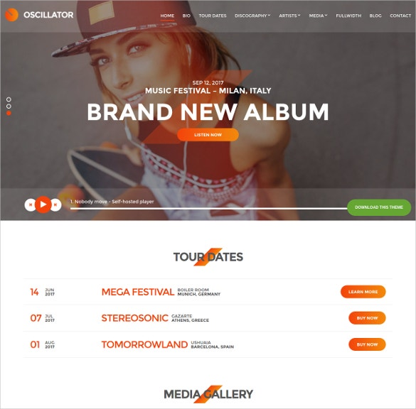wordpress theme for djs event organizers website theme