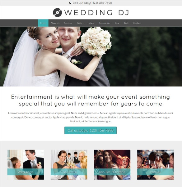 premium wedding dj wordpress website theme 75